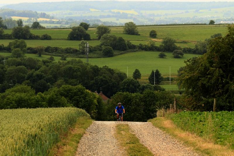 wielrenner in Heuvelland